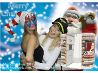 Christmas Party Photo Booth Hire,OFFER, Four Hours for the Price of Three, plus free Green Screen