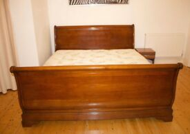 Brigitte Forestier Super King Cherry Wood Bed Frame