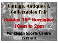 Vintage, Antiques & Collectables Fair - Devon