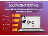 SOLIDWORKS TRAINING, SOLIDWORKS TUTORING, ONLINE ONE TO ONE TRAINING BESPOKE PRODUCT DESIGN TRAINING