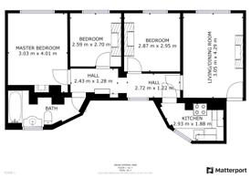 3 bedroom flat in Hanway Place, London W1T