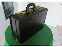 Large black leather briefcase