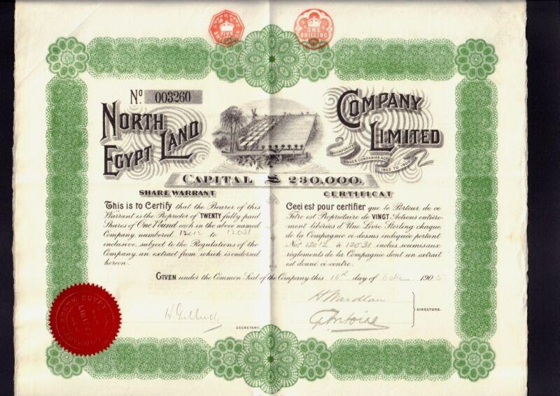 North Egypt Land Company Limited dd 1905