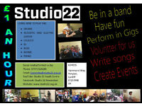 Studio 22, Youth Music Studio. Learn and have Fun.