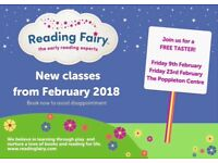Reading Fairy weekly classes for 1-5 year olds. Story-telling, phonics, music, language development