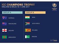 ICC Champions Trophy Semi Final - Cardiff - 2 x Silver Tickets @ 75 Each