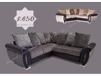 HELIX CORNER SOFA'S, AVAILABLE IN 2 COLOURS WITH FREE DELIVERY