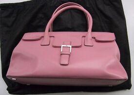 Pink Italian Leather Handbag by Adrienne Vittadini