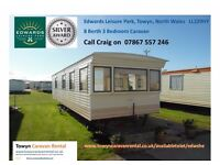 Towyn North Wales Edwards Leisure Park 8 Berth 3 Bedroom £50 OFF EARLYBOOKINGS EDWSHE