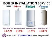 ELECTRIC BOILER TO GAS BOILER INSTALLATION/CONVERSION,electric water heater removed,GAS SAFE,MEGAFLO