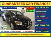 2008 DODGE (USA) CALIBER SXT A BLACK - GUARANTEED CAR FINANCE CAR CREDIT - FINANCE FROM £17 P/WEEK