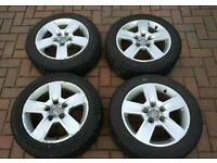 "4 x 16"" Audi Alloy Wheels - 205/55/16"