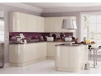 Handleless Cream Gloss Kitchen Complete Modern.. Hurry limited stock!