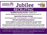 Day Nursery Staff Wanted