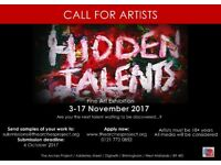 Call for Artists -Hidden Talent Art Exhibition