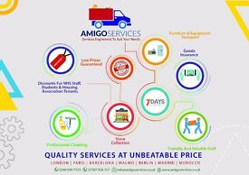 AmigoServices |Removals | Deliveries |CHEAPEST Man Van | £25 p/hr| London| Kingston | UK & EUROPE|