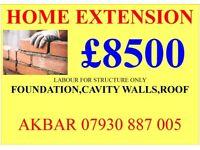 HOME EXTENSION £8500,LOFT CONVERSION £9500,BASEMENT,RENOVATION,GARAGE CONVERSION, NEW ROOF