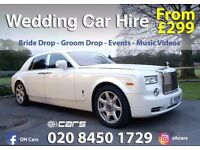 Wedding Car Hire | Rolls Royce Phantom | Range Rover Sports | Bentley | Limo and much more