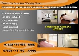 ROOMS TO LET IN SHIREBROOK