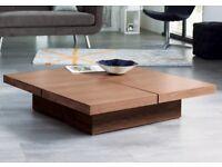 Dwell - Four block storage coffee table - walnut