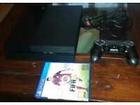 PS4 500 GB with controller and Fifa 15 - £150