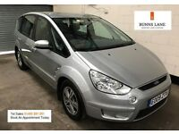 2009 Ford S Max Zetec 2.0 Tdci *7 Seater* *Low Warranted Mileage* Bluetooth 3 Month warranty