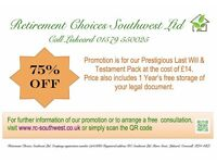 Last Will and Testament Promotion