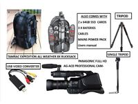 Professional Panasonic full HD AG-AC8 Camcorder with Extra kit.