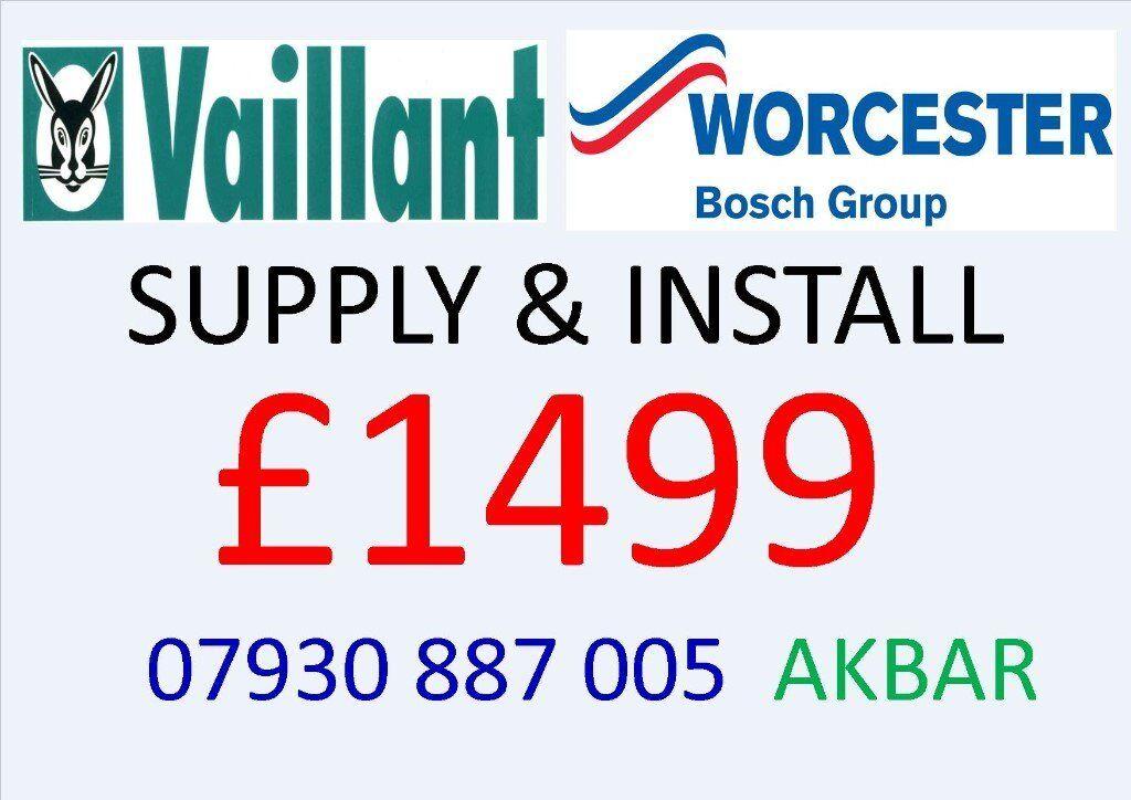 NEW COMBI BOILER vaillant or worcester SUPPLY & INSTALLATION £1499, back boiler removed, GAS SAFE