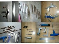 engineering items choice of =thread gauges whit + usa/ square/ /punches /countersinks
