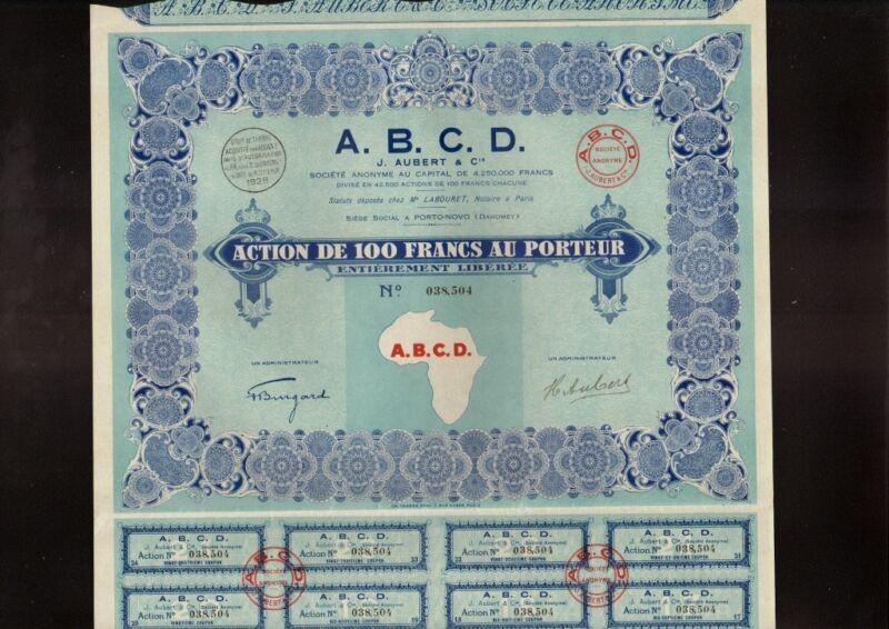 AFRICA /  DAHOMEY A.B.C.D. J Aubert & Cie Porto Novo dd 1928