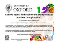 AS Level Students wanted for number skills and brain development study