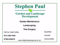 Edinburgh garden maintenance, landscaping and tree surgery services