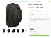 65L Colossus back packs used once for 4 weeks as new