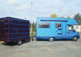 Custom box trailer, fibreglass body, Custom Paint job, kart, moto x, modular shelves, ex BT