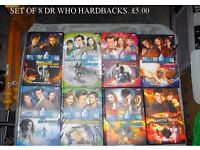 8 Dr Who Hardback Books