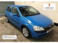 2001 Vauxhall Corsa Sxi+ 1.2 Alloys, Air Con, 12 Month Mot 3 Month Warranty
