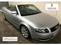 Aud A4 1.8 T Sport Convertible, Leather, Air Con 12 Month Mot 3 Month Warranty