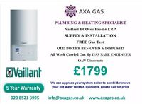 vaillant ecotec pro,SUPPLY & FIT £1799, 5 YR GUARANTEE,CENTRAL HEATING,SYSTEM TO COMBI CONVERSION