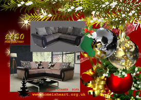 HELIX CORNER SOFA'S, AVAILABLE IN 2 COLOURS WITH FREE DELIVERY BEFORE CHRISTMAS