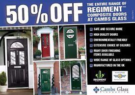 50% off Composite Doors @ Cambs Glass