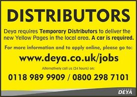Part Time/Temporary deliverers required to distribute the new Yellow Pages