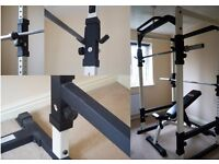 Weight Lifting Equipment, incl. Power Cage, Bench, Olympic Weights, Bars etc.