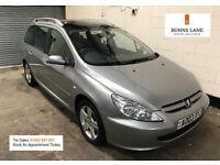 Peugeot 307 SW SE 2.0 HDI Estate *Panoramic Glass Sun Roof* *7 Seater * Air Con 3 Month Warranty