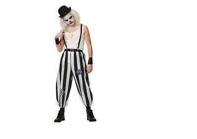 Horror Killer Böser Monster Clown Halloween 5 tlg, Kostüm Verkleidung 3 Größen