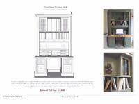 Handmade bespoke writing desk bureau similar to Smallbone, etc..