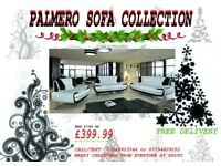 FREE CHRISTMAS DELIVERY ON THESE SPECIAL EDITION WHITE & BLACK PALMERO SOFA'S