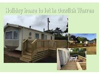 New static caravan to let in Dawlish Warren, South Devon.
