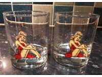 SAILOR JERRY OFFICIAL MERCHANDISE Pin Up Tumbler Drinks Glass