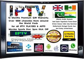 IPTV UK ASIAN 12 MONTH BEST WARRANTY GIFT MAG BOX,ZGEMMA,VU,SMART TV, FIRESTICK, SMART DEVICES, No 1